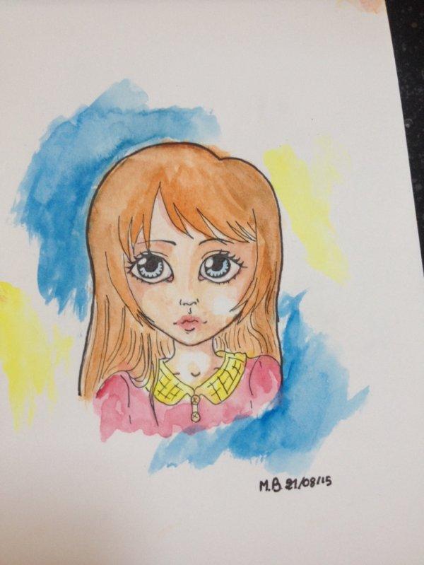 Aujourd'hui j'ai colorié l'un de me dessin à l'aquarelle (pour la première fois je précise) je trouve que je m'en suis pas mal sorti :3 ca change du noir et blanc j'aime bien! Si vous auriez quelque astuce pour que je puise m'améliorer je suis preneuse :)!♥️