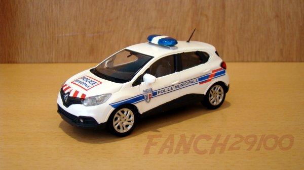 Modèle RENAULT CAPTUR POLICE MUNICIPALE 1/43 Réalisé sur base NOREV