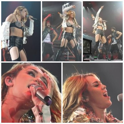 miley a un concert en INDONESIE