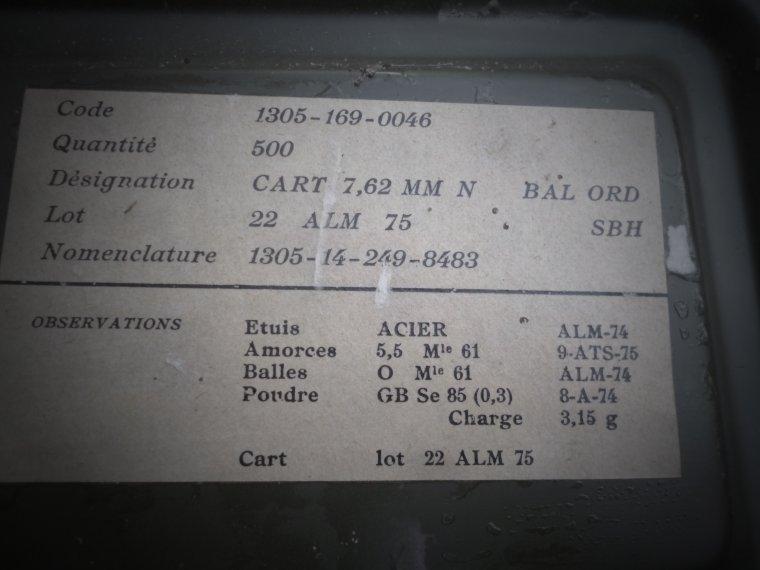caisse cal 7.62 français