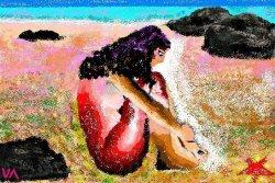 Sur la plage..