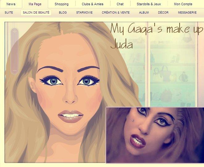 Make up As Lady Gaga! in judas.