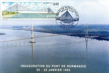 Inauguration du Pont de Normandie le 22 Janvier 1995