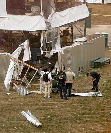 Explosion d'une bombe lors des Jeux Olympiques d'Atlanta.