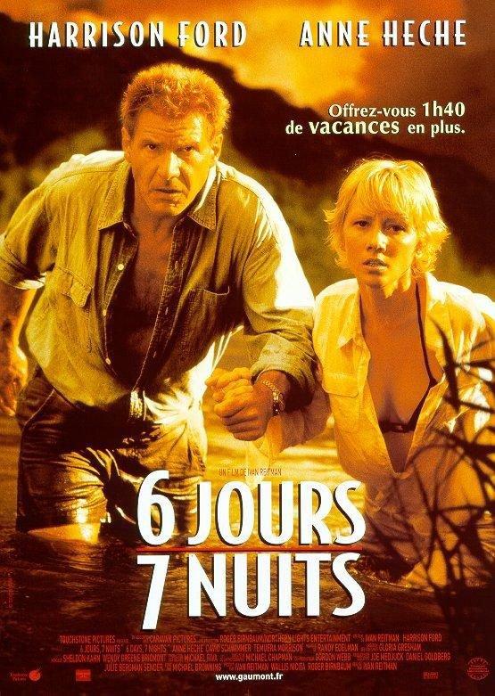 "Sortie en France du film ""6 jours 7 nuits""."