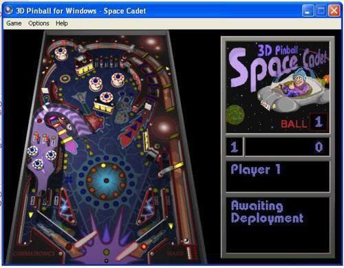 Pinball sur Windows XP