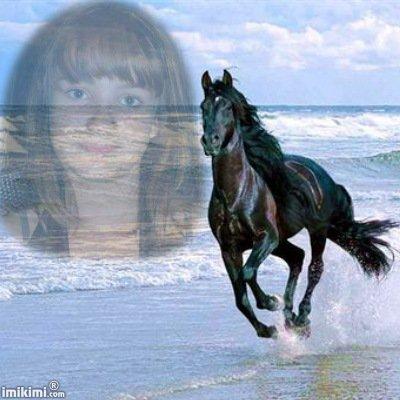 Ma nièce fan de chevaux
