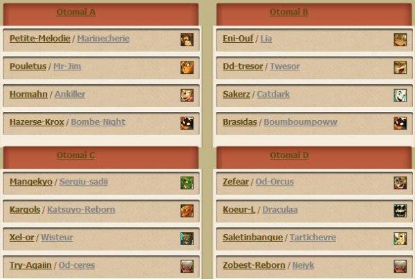 Composition des équipes du goultaminator