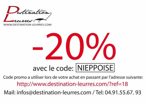 - 20 %   pour le site destination leurres
