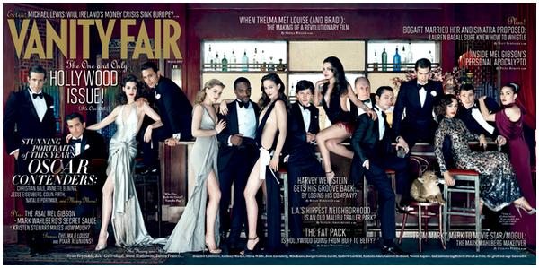 _____STAR _|_ A l'approche des Oscars, voici la belle issue du Vanity Fair sur les bons élèves d'Hollywood !