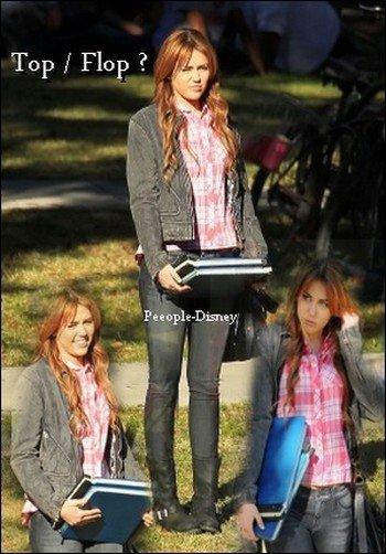 15 Janvier : Miley sur le tournage de So Undercover . Pour moi c'est un Top