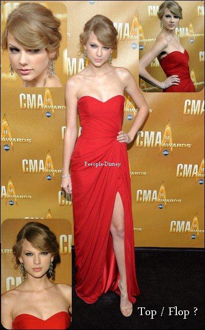 Flashback 10 Novembre 2010 : Taylor etait a la 44ème cérémonie des Country Music Awards. Pour moi c'est Top