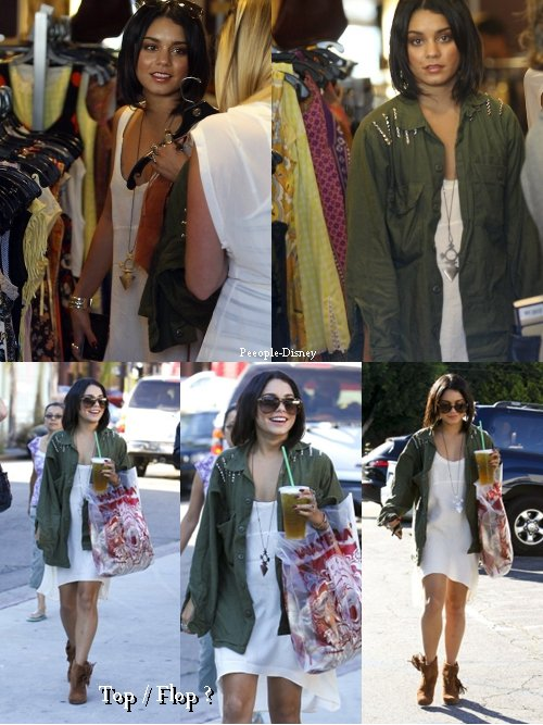11 Octobre : Vanessa faisant du shopping dans Studio City avec Laura New, sa tenue est jolie pour moi c'est Top