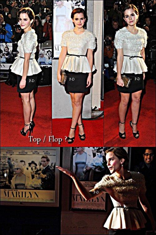 22 Novembre: Emma a l'avant première de My Week Wight Marylin à Londres. Pour moi c'est un énorme Top, j'adore sa tenue et son makeup  $)
