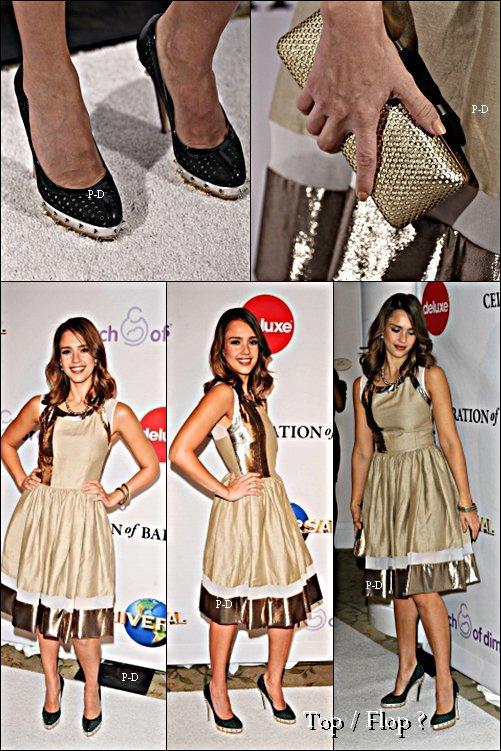 1er Décembre : Jessica a l'évènement The Children Defense Funds à Los Angeles. Pour moi c'est Top, j'aime beaucoup sa robe et ses chaussures.