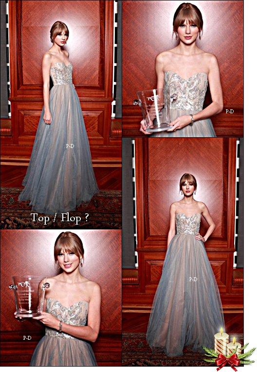 11 Décembre  : Taylor au 27eme Symphony Ball ou elle y a reçu l' Harmony Award :). Pour moi c'est un énorme Top, j'adore sa robe et sa coiffure  $)