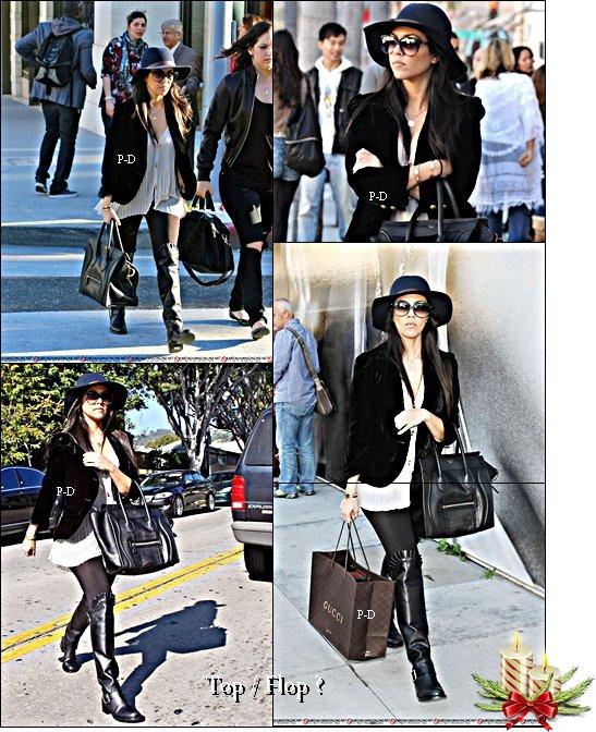 20 Décembre  : Kourtney faisant du shopping chez Gucci à LA. Pour moi c'est Top , j'aime beaucoup sa tenue et j'adore ses bottes :)