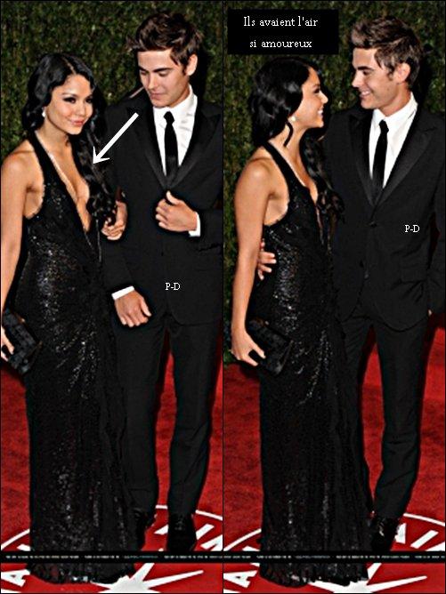 Flashback 7 Mars 2010 : Zanessa au Vanity Fair Academy Awards. Pour moi c'est un gros Top pour tous les deux, j'adore la robe et la coiffure de Vanessa, quand a Zac il est tres classe et super sexy dans son costume $)