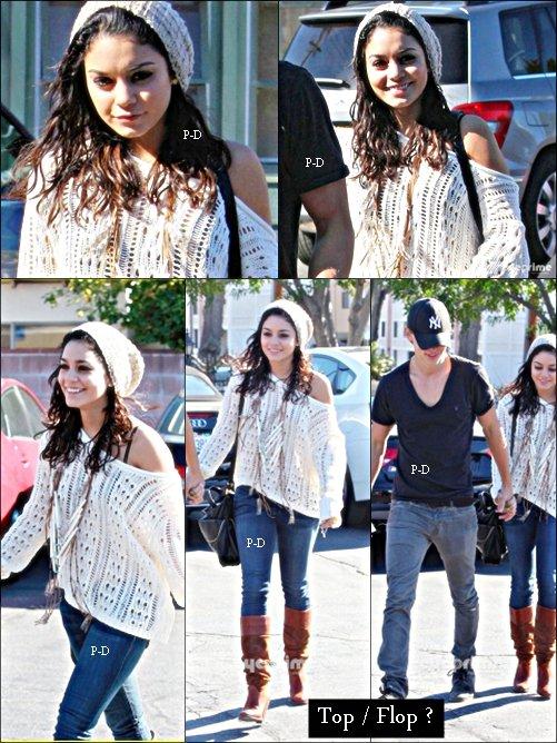 12 Janvier: Vanessa et Austin déjeunant a dans Studio City. Pour moi c'est Top, j'aime beaucoup sa tenue, ca fait plaisir de la voir aussi souriante :)