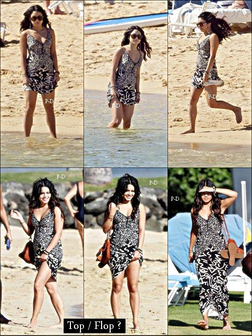 20 Janvier: Vanessa sur la plage de Maui a Hawaii avec Austin ( pas présent sur les photos). Pour moi c'est Top. J'adore sa robe et ses cheveux :D