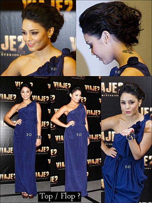 27 Janvier  : Vanessa en promotion de son film Journey 2 au Mexique. Pour moi c'est un gros Top, j'adore sa robe et sa coiffure :D