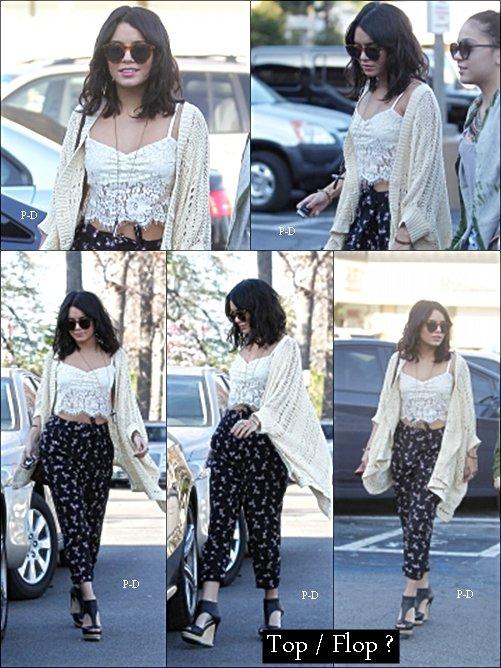 3 Février : Vanessa allant rendre visite a sa famille à LA. Pour moi c'est Top, j'aime bien sa tenue et ses chaussures sont trop belle :D