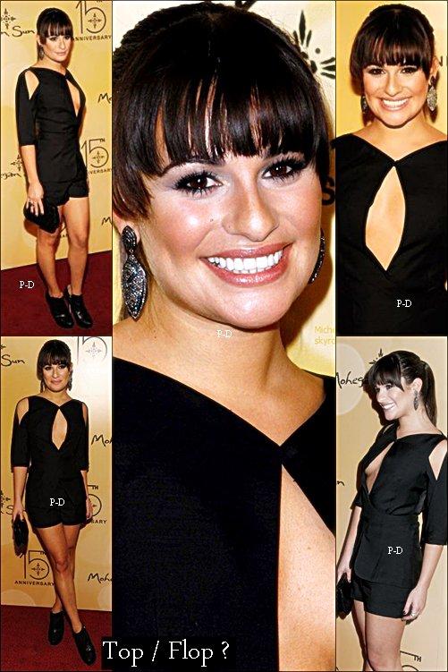 Flashback 22 Octobre 2011: Lea au 15ème anniversaire du MoHegan Sun. Pour moi c'est un gros Top, elle est magnifique dans cette combinaison très sexy  ^^