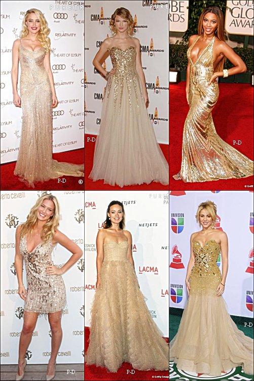 Qui porte la plus belle robe doré?