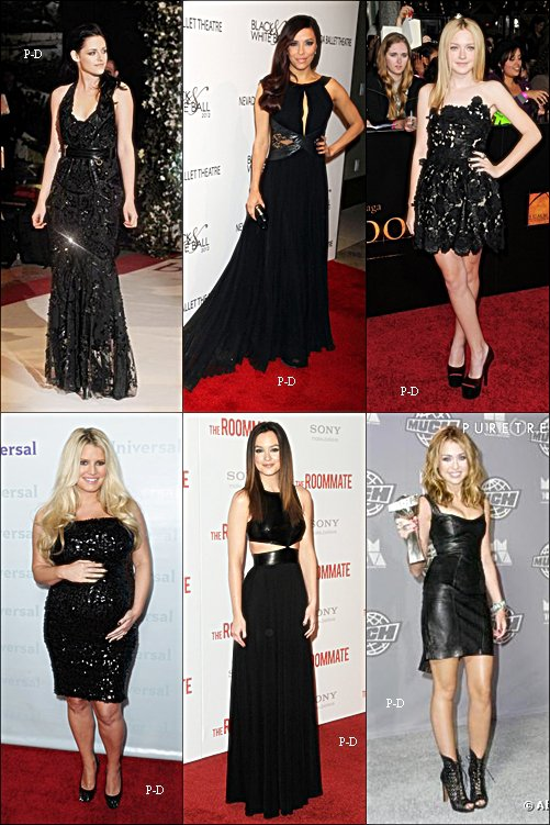 Qui porte la plus belle robe noir?