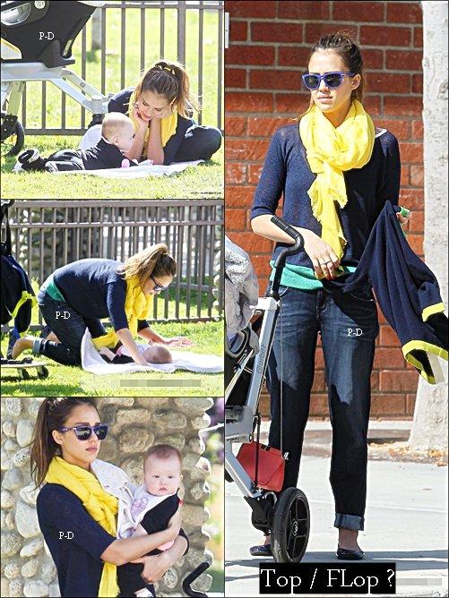 18 Février : Jessica au parc avec sa famille, Pour moi c'est Top, sa tenue est coloré mais j'aime bien.