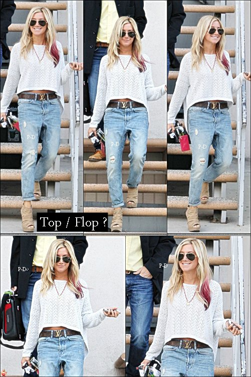 1er Mars: Ashley sortant de bureaux dans Sutudio City. Pour moi c'est Top, j'aime bien sa tenue :)