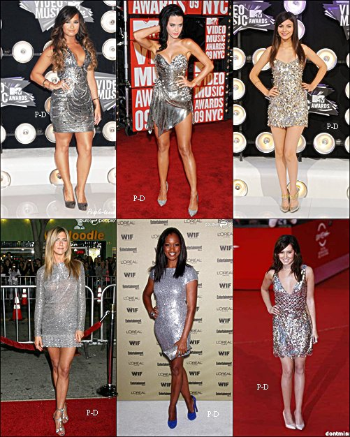 Qui porte la plus belle robe argenté?
