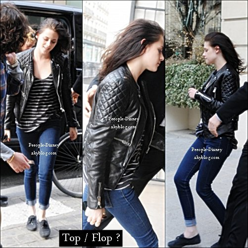 5 Mars: Kristen entrant à Louis Vuitton. Pour moi c'est Top, je suis fan de sa veste Balanciaga   $)