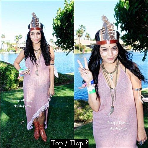 14 Avril: Vanessa et Austin au 2eme jours du Coachella au Guess Hotel And Smoke & Mirrors Party. Pour moi c'est Top, j'aime bien sa robe mais j'aime pas trop ses bottes