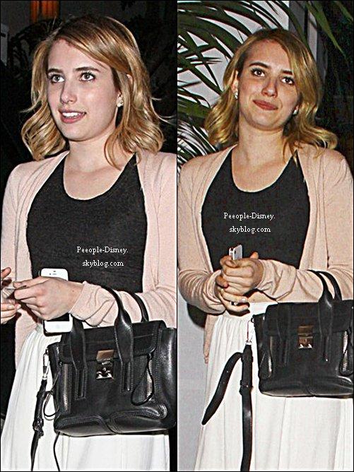 13 Mai: Emma quittant le Château Marmont. Pour moi c'est Top , j'aime bien sa tenue mais pas ses chaussures