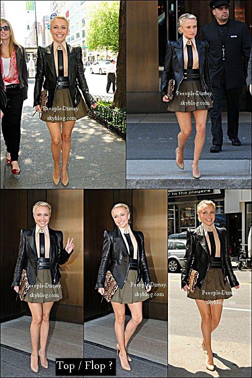 18 Mai: Hayden Panattiere quittant son hôtel dans Soho. Pour moi c'est Top, j'adore sa tenue, j'ai un coup de coeur pour sa veste