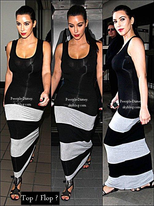 2 Juin: Kim arrivant à Lax aéroport. Pour moi c'est Top, j'aime bien sa robe même si elle est un peut transparente et ses chaussures sont jolie :)