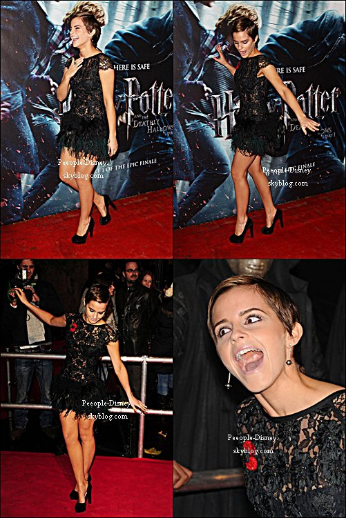 Flashback 11 Novembre 2010: Emma était à l'avant première mondiale d'Harry Potter et les reliques de la mort part 1 à Londres. Pour moi c'est Top, elle est superbe de la tête aux pieds :D