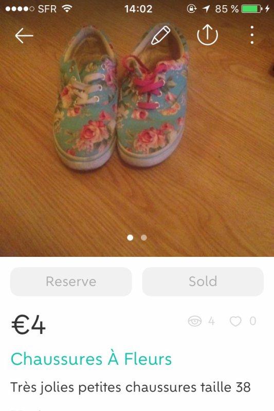 Chaussures à fleurs