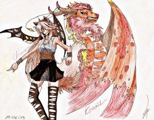 "Resultat concours de dessin : "" Koraïl & Chimaera """