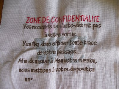 Broderie WC