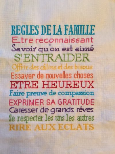 Les règles de la famille