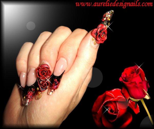 ongles et roses