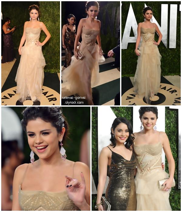 .Dimanche 24 Février :[/g ]Selly était à Los Angeles pus précisement à L'after-party des Oscars. Elle y était avec Vanessa Hudgens. .