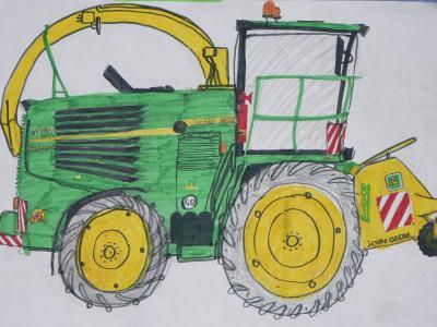 Bruder4205 - Dessin anime de tracteur john deere ...