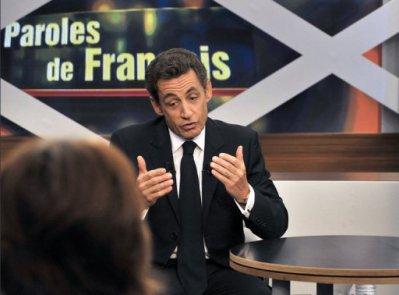 Nicolas Sarkozy s'adresse aux français sur TF1…