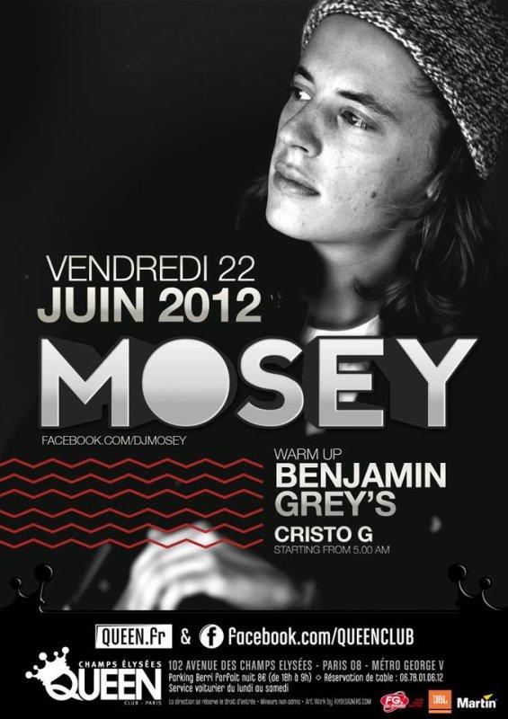 ÉVÈNEMENT Mosey sera à Paris le Vendredi 22 juin 2012