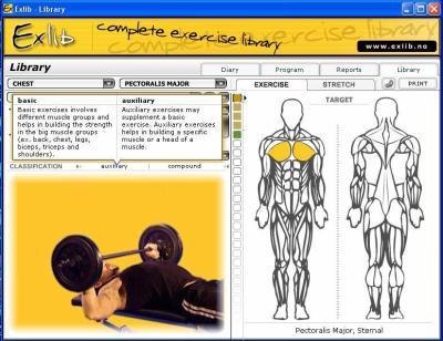 exlib logiciel de musculation