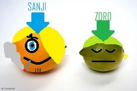 Sanji et Zoro / Citron et Citron Vert .