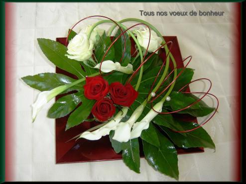 tous nos voeux de bonheur aux mari s art floral. Black Bedroom Furniture Sets. Home Design Ideas